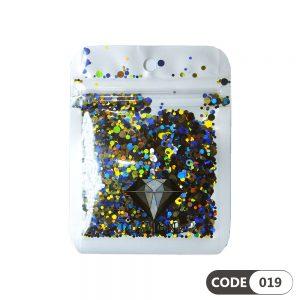 پولک دیزاین ناخن کد 019 دیاموند | DIAMOND