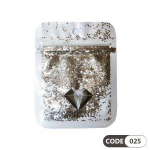 پولک دیزاین ناخن کد 025 دیاموند | DIAMOND