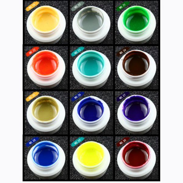 پک 30 عددی ژل کاسه ای طراحی ناخن کالر پرو | KOLOR PRO