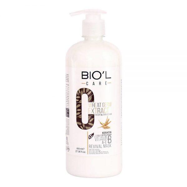 ماسک مو حاوی عصاره جوانه گندم مناسب مو رنگ شده و آسیب دیده بیول   Biol